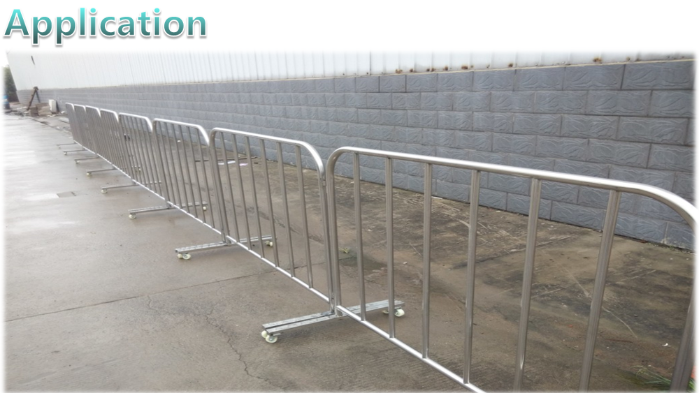 Cheap stainless steel pedestrian portable crowd control barrier ,road safety metal fence