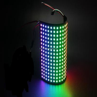 160*160mm flexible led display led dot matrix 256led ws2812b