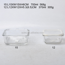 hotsale food grade 400ml round glass airtight preserving box/storage bowl