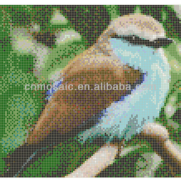 Decorative bird mosaic patterns for wall decoration