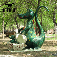 Exhibition life size fiberglass dinosaur statue for sale