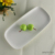 "10.6"" inch round rectangle plain whtie 2017 new arrivals porcelain wedding party food service ceramic elegant gloss stock plate"