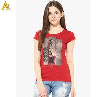 Ladies new design charming full color sublimation Printing Women T Shirt custom digital printed multi colored t shirts