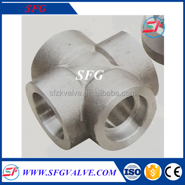 "Forged 1/4 "" Socket Weld Cross Pipe Fitting Names And Parts"