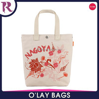 Yiwu printed canvas beach tote bag with outside pockets