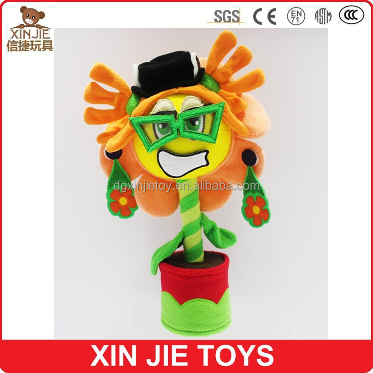 custom sunflower plush doll toy colourful stuffed flower toy for kids nice sunflower plush toy