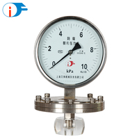 China Wholesale Stainless Steel Diaphragm Pressure Gauge with Safety Glass Lens