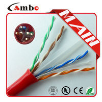 Shenzhen Factory 1000ft Pull-out Box Packing Bulk cable cat 6 red
