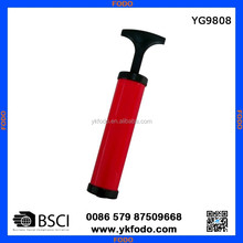 exclellent quality low price hand air pump with needle, soft hose dand adaptor YG9808