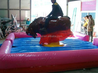 Amusement park outdoor inflatable mechanical bull ride for sale