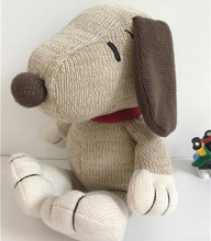 Knitted Snoopy dog toys 2018 for baby and child