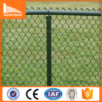 Chain link wire mesh airport fence, PVC Coated Sport Chain Link Fence
