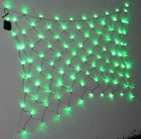 Holiday Time Random Twinkle LED Net Christmas Lights green 100 Count