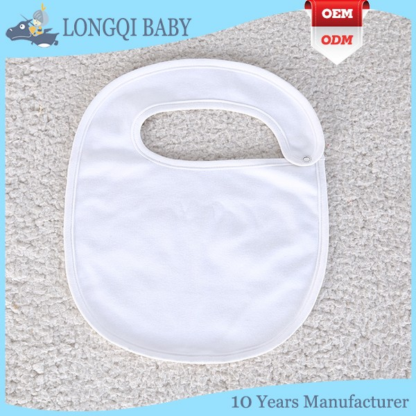 WZ-MS-1008 luxury stlye plain white terry cloth cotton baby bibs
