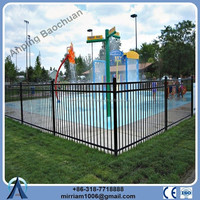 Olympic Used Prevent People Interim Corten Steel Fence/Decorative Fence Covering/Steel Tube Fence Panels