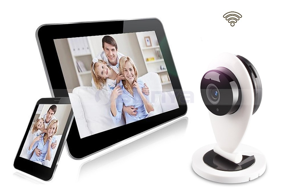 Folding Robot Type IR Night Vision HD 720P Cloud Storage PTZ P2P WIFI IP Home Security Camera