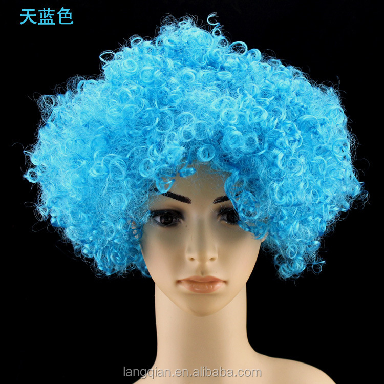 Similar Products Contact Supplier Leave Messages Hot-selling short braided cheap football fans afro wigs for black men