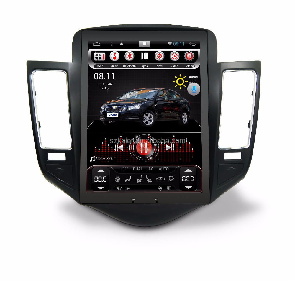 Oem tesla vertical screen 1024*768 car radia dvd gps for chevrolet Cruze with easy connect ,wifi ,tv,ipod ,Digital tv