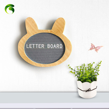 Changeable flet Letter Wooden Board with letter board White Letters