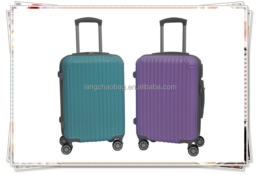 colorful hard shell PC luggage/trolley case