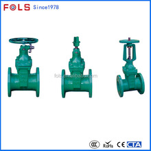 Handwheel operated flange type chain wheel gate valve