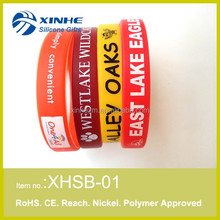 Custom printed sport silicone hand bands for boys and men