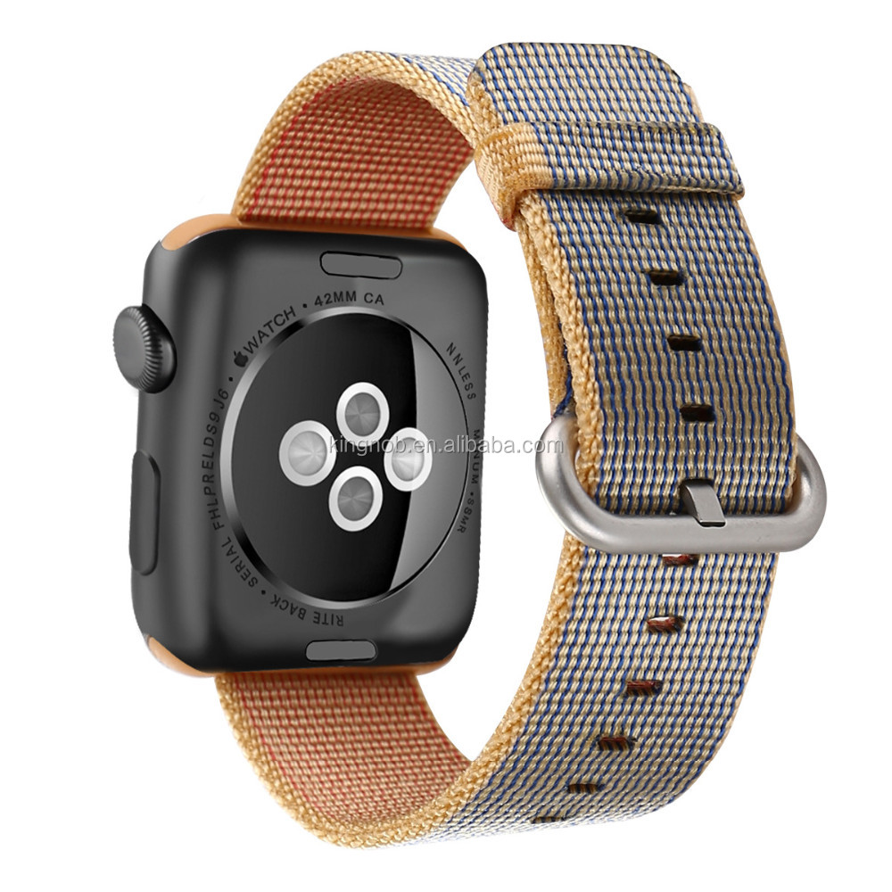 Newest Woven Nylon Replacement 38mm 42mm Canvas Watch Strap For Apple Watch Band