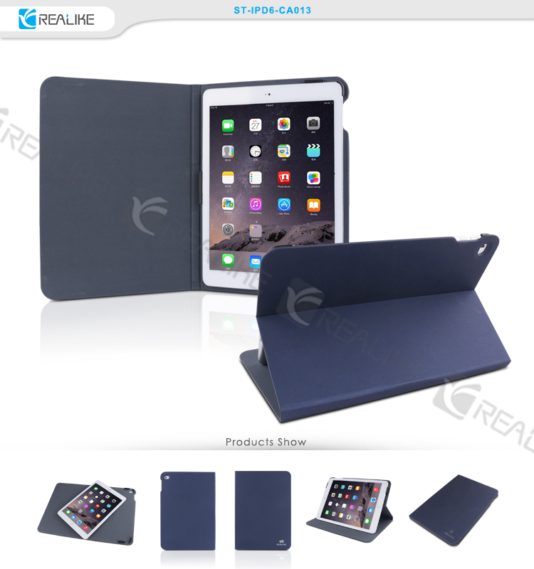 PU leather material for apple ipad air 2 case, tablet case cover for ipad air 2