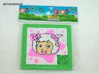 Hot selling plastic cartoon sheep puzzle,Educational toy puzzle game for kid