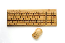Fashion Design Real Bamboo Wireless Keyboard And Mouse