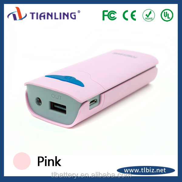 fashion design portable mobile battery power bank 5200mah with mini wings