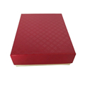 Different Color Printed Embossing Clothing Packaging Box