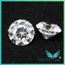 Hot sell Factory sale 8.0mm AAA white 100 faceted imitation cubic zirconia for Jewelry making free sample