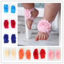 X60505A Infant First Walker Baby Girls Headband foot flowers accessories