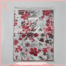 Manufacture needle puched shopping recycled cheap garment plastic bag.handle cosmetic bags