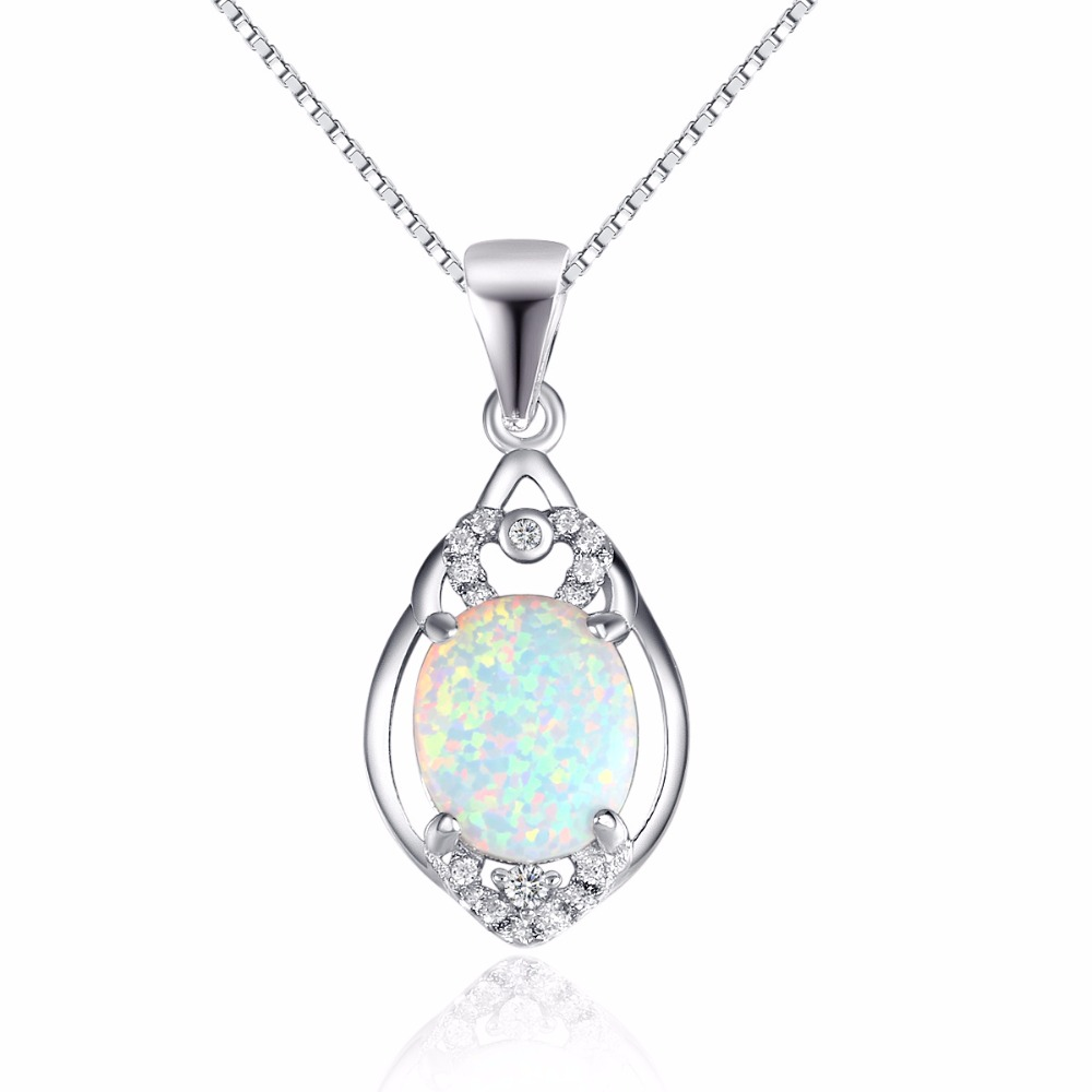 SJC120 Best Selling Products 925 Sterling Silver Royal Jewelry Fashion Opal Pendant Necklace for Women