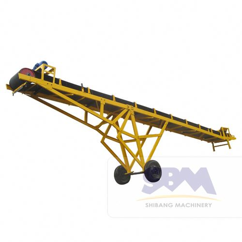 SBM skirt rubber belt conveyor with high quality and capacity