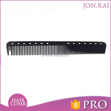 Professional use hairdresser cutting hair combs carbon fiber comb custom logo