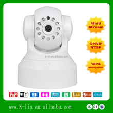 Indoor PTZ CCTV Camera Motion-JPEG CMOS IR-CUT Wireless Plug and Play IP Camera