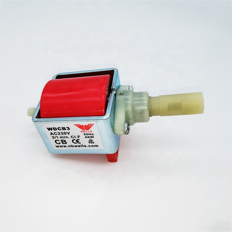 AC230V Miniature plunger electromagnetic electric iron water coffee machine solenoid <strong>pump</strong>