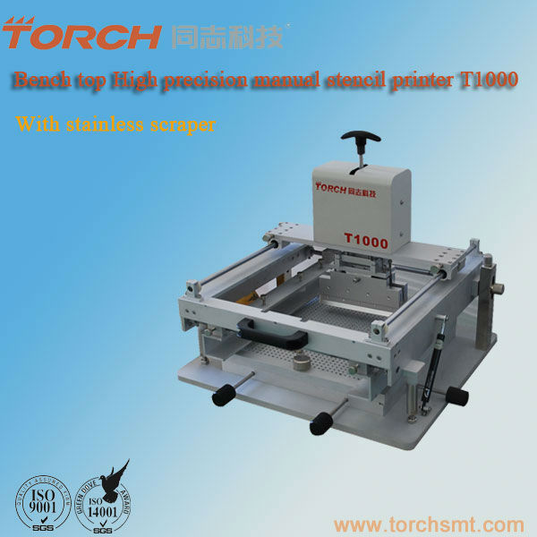 Manual smt stencil printing machine T1000 / high precision smt manual printer