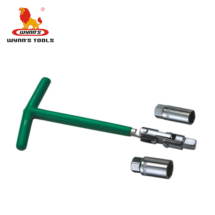 T handle three-piece ignition spark plug wrench
