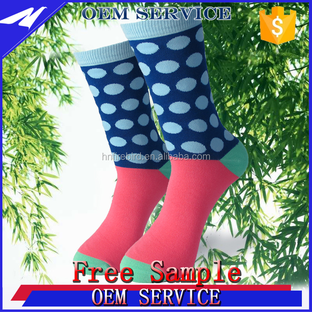 Hot sale made colorful striped design elite 100% bamboo custom socks