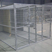Heavy safety and duty large outdoor temporary modular dog kennels fence/large powder coated dog kennels