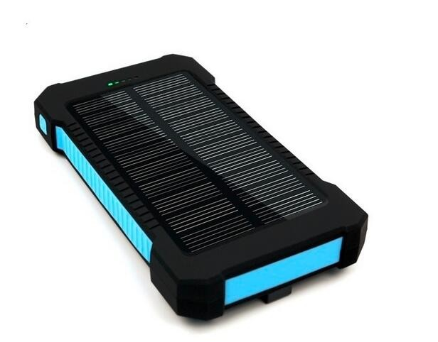 three proofing solar power bank solar charger 10000mah for ipad mobile phones
