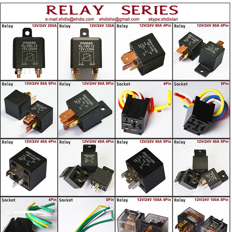 12v 24v Latching Relay Auto 80a Relay Waterproof Finder