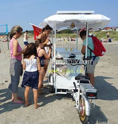 Ice Cream Bike with solar powerd battery 12v/24v chest freezer and solar panel tricycle three wheels bike