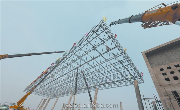 Galvanized And Painted Steel Frame Structure Gas Filling Station