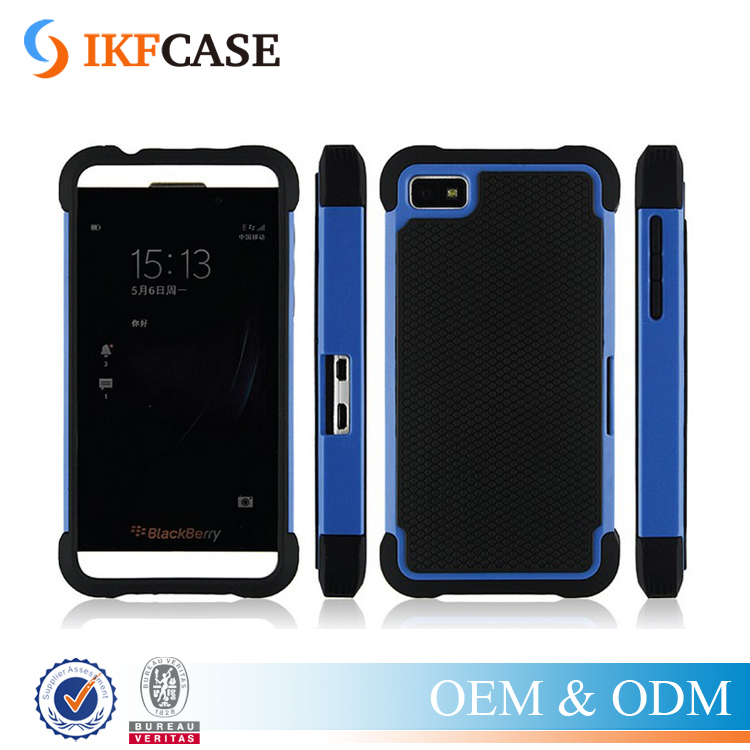 Hybrid Dual Layer Armor Heavy Duty Hard 2 in 1 Plastic Silicon Case For BlackBerry Z10 BB10
