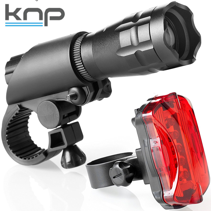 200lm Bright Easy to Mount Headlight and Taillight Super LED Bike Light